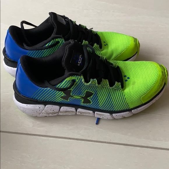 Under Armour Boys Green Running Shoe